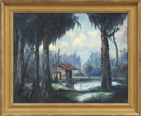 cabin on the bayou by nestor fruge