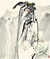 summit of mount huang by wu guanzhong
