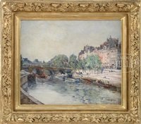 along the seine river in summer by stanislas lépine