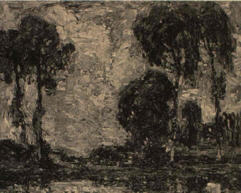landscape at longpre france by walter griffin