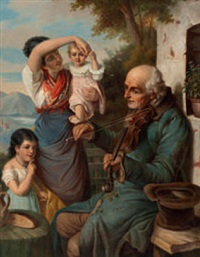 musizierender bettler by joseph haier