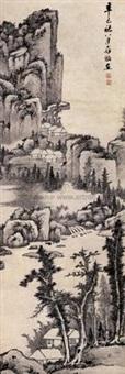 溪山幽居 (secluded residence among streams and mountains) by luo mu (lo mou)