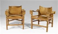 paire de chaises insel (pour spindel) by fritz lobeck