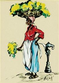 charleston flower vendors (pair) by alice scott