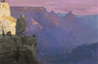silhouettes at dawn, grand canyon by peter adams