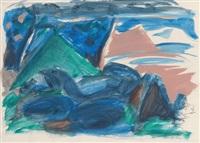 ohne titel (abstrakte landschaft) by k.h. hödicke