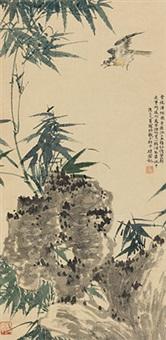 竹石图 立轴 纸本 by chen peiqiu