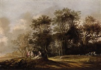 forest with nymphs by anthony jansz van der croos