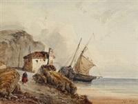 küstenlandschaft - vue prise à l'île d'aurigni by henri le hon