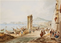 street at the bay of naples by achille vianelli