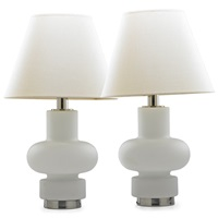 single socket table lamps with illuminated bases (pair) by laurel lamp (co.)