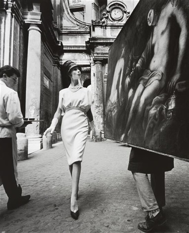 rome vogue painting coffee by william klein