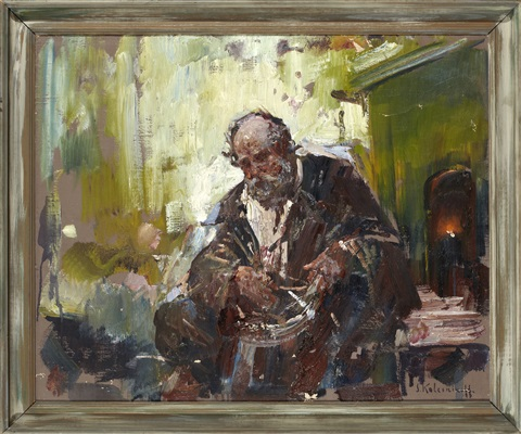 portrait of an old man by stepan feodorovich kolesnikov