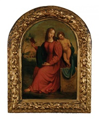 the madonna and child in a landscape setting by italian school (16)