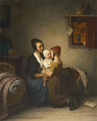 the newborn (mother with her children) by johann georg meyer von bremen