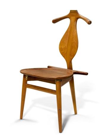 Garderoben Stuhl, Modell Valet/bachelor Chair Nr 250 By Hans J. Wegner