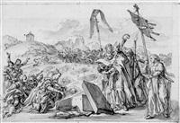 auffindung des grabes eines heiligen by gottfried bernhard goetz