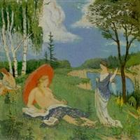 badende am weiher by bedrich wachsmann