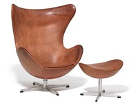 the egg chair (model 3317 and 3127) by arne jacobsen
