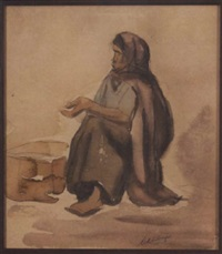 native woman begging by conrad alfred albrizio