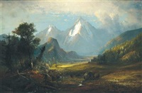 colorado mountain scene by henry arthur elkins