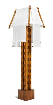 stehlampe, modell lampada carlo magno by giuseppe rivadossi