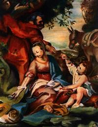 die hl. familie mt dem kirschzweig (after barocci) by conrad david arnold
