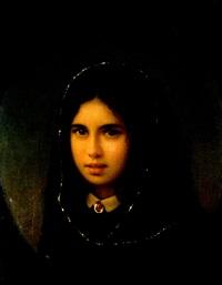 portrait eines jungen mädchens mit schleier by mikhail vasilievich bryansky