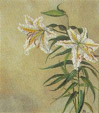 hvide liljer by alfrida baadsgaard