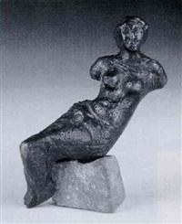sitzender weiblicher torso by joachim dunkel