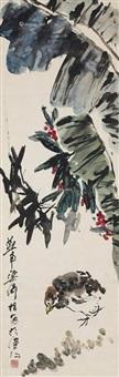 芭蕉小鸟 (banana and bird) by liang qi