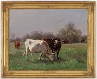 vaches au pâturage by aymar (aimard alexandre) pezant