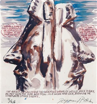 ohne titel (nature is dumb ...) by raymond pettibon