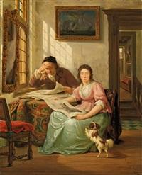 interieur mit kunstsammler und seiner frau by abraham van stry the elder