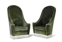 tall armchairs (pair) by madeleine castaing