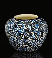 vase (designed by max laeuger) by staatliche majolika-manufaktur karlsruhe (co.)