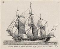 mélanges de vaisseaux, de frégates, et de corvettes (set of 12) by pierre ozanne