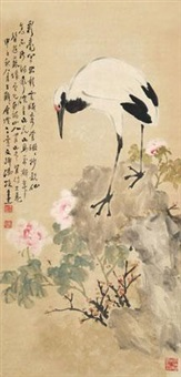 富贵仙鹤图 by feng huan