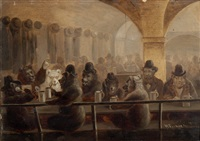 bären in der taverne by jakob henri fischer-hinnen