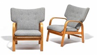 easy chairs (pair) by magnus læssoe stephensen