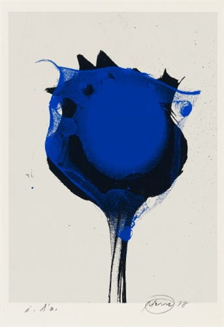 blue poppy 4 works incl 1 unsigned by otto piene