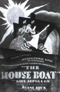 movie poster painting of the film the house boat starring  dave appollon by nat karson