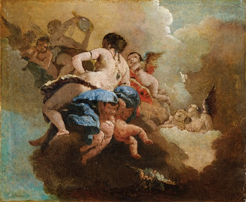 ariadne with putti by giovanni battista tiepolo