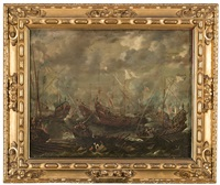 la batalla de lepanto by guillaume forchondt the elder