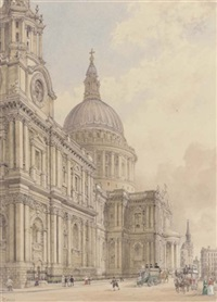 st. paul's cathedral (+ gloucester cathedral; pair) by james kelaway colling