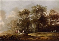 landschaft mit nymphen und faunen by anthony jansz van der croos