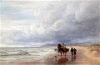 seaweed gatherers along the shore by charles thomas burt
