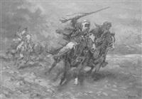 reitende beduinen by dorul van der heide