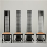 hill house chairs (set of 4) by charles rennie mackintosh