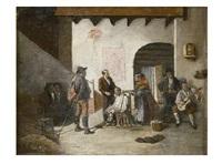 charlando en la barberia by leonardo alenza y nieto